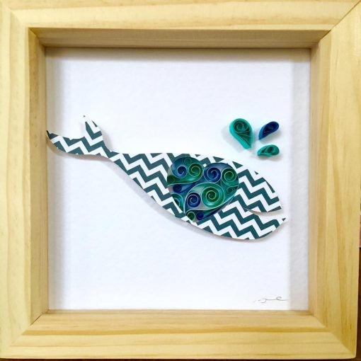 Gifts for a Beach Hut Fan - Whale in a frame