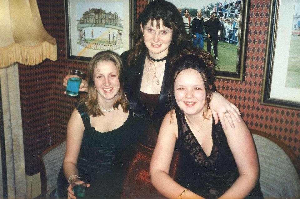 Do we ever really feel like a grown-up? Uni picture from 1998 (accountancy ball in st andrews)